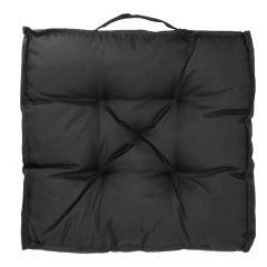 Stuhlkissen Outdoor, schwarz, 45 x 45 cm