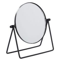 Tischspiegel rund, schwarz matt, 19 cm