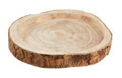 Schale Holzscheibe, 35 cm