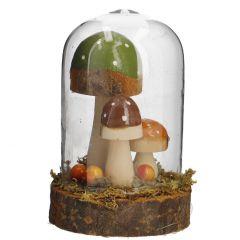 Glocke Herbst, Pilze rund, 12 cm