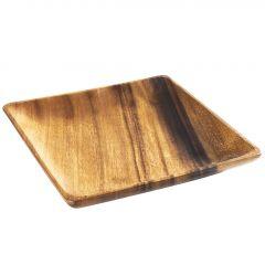 Holzteller Eck, 21 cm