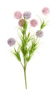 Strauß 7 Pompons, lila/flieder, 30 cm