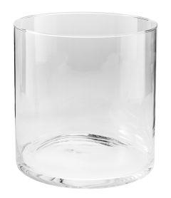 Glas-Vase, rund, Höhe 25cm