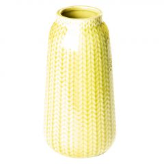 Vase Strick, hoch, hellgrün, 13 cm