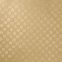 Geschenkpapier, natur/gold, gr. Punkte, 2 m