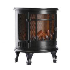LED-Kamin, Gitter, schwarz, 35 cm
