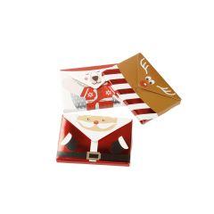 3er Set Umschlag für Gutschein, Santa/Rentier