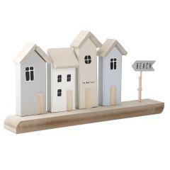 Deko-Häuser mit Schild, 38 cm