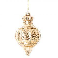 Anhänger Ornament/rund, gold, 14 cm