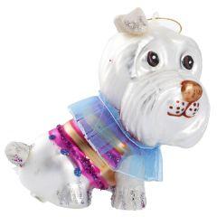 Baumschmuck Hund mit Kostüm, 12 cm