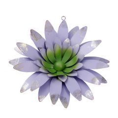 Blumen-Wanddeko, flieder/grün, 26 cm