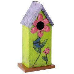 Vogelhaus Blumen, grün, 31 cm