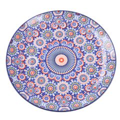 Speiseteller Tokio, dunkelblau/orange, 26 cm