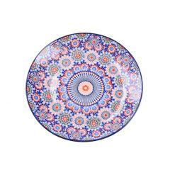 Teller Tokio, dunkelblau/orange, 20 cm