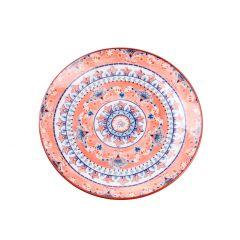 Teller Tokio, Orange/dunkelblau, 20 cm