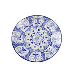 Teller Tokio, dunkelblau/grün, 20 cm