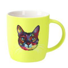 Becher Fancy/Tier, Katze/gelb, 330 ml