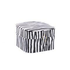 Schmuckbox, Zebra, 12 x 12 cm