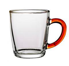 Teeglas mit Farbhenkel, orange, 340 ml