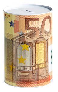 Spardose, 50 Euro Schein