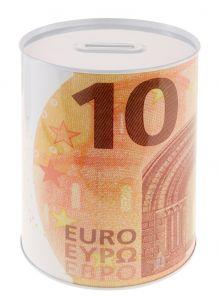 Spardose Euroschein, 10 Euro, 13 x 15 cm