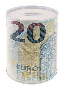 Spardose Euroschein, 20 Euro, 13 x 15 cm
