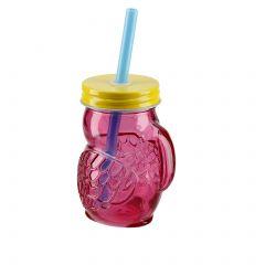 Mini-Schraubglas, Tucan, pink/gelb, 100 ml