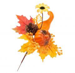 Deko-Stecker Ernte, Kürbis/Sonnenblume