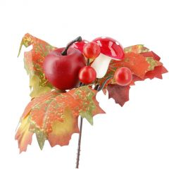 Deko-Stecker Ernte, Pilz/Apfel