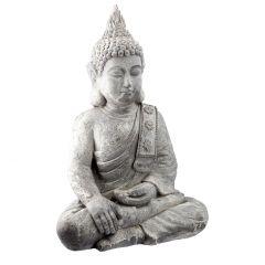 Buddha Thai, grau, 65 cm
