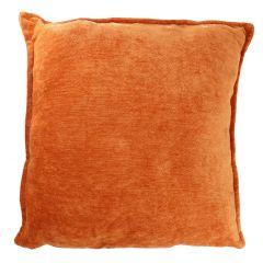 Kissen Chenille, orange, 50 x 50 cm