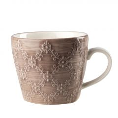 Becher China, Ornamente, taupe