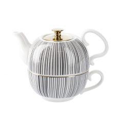 Tea for One, China, schwarz/weiß, Strahlen