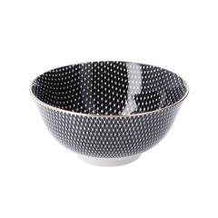 Schale China, groß, schwarz/weiß, Netz