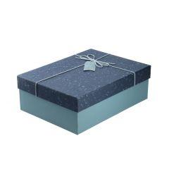 Geschenkkarton Handmade, blau, 33.5 x 25 cm