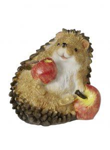 Igel mit zwei Äpfeln, liegend
