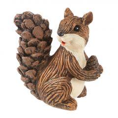 Eichhörnchen Eddie, braun, 8 cm