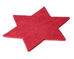 Filz-Untersetzer Stern, 25 cm, rot