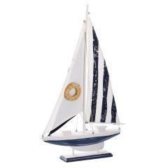 Boot Meer, hellblau/weiß, 56 cm