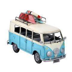 Bus Beach, hellblau/weiß, 30 cm