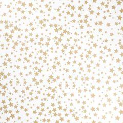 Geschenkpapier Stern, weiß, gold, 5 x 1 m