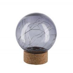 LED-Kugel Kork, grau, 15 cm