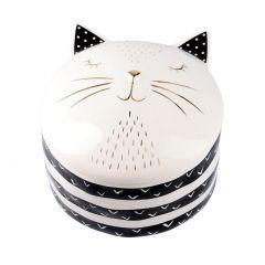 Dose Felix, Katze, schwarz/weiß, 14 cm