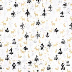 Geschenkpapier Waldfreunde, weiß, 2 m