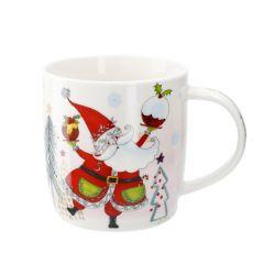 Becher Weihnachtsmann/Hände, 350 ml