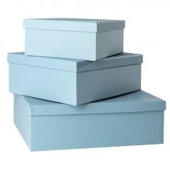 3er Set Geschenkkarton Edel, groß, aqua