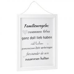 Schild Familienspruch, Zusammen halten, 40 x 30 cm