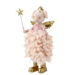 Schwein Mila, Stern links, 18 cm