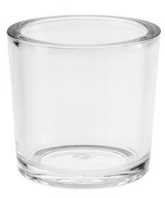 Glas-Windlicht Zylinder, dick, Höhe 12 cm