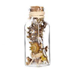 Potpourri Strohblume in Flasche, gelb
